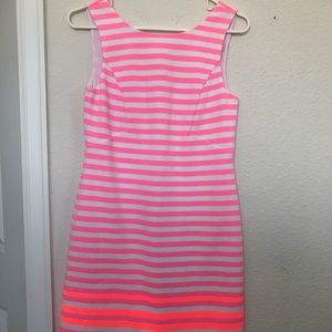 Lilly Pulitzer pink and white striped dress